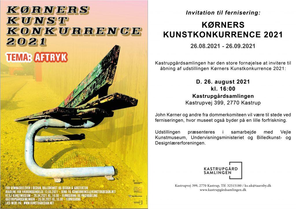 Invitation til fernisering på Kørners Kunstkonkurrence 2021 – Kastrupgårdsamlingen